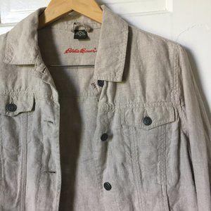 Eddie Bauer Linen Trucker Jacket